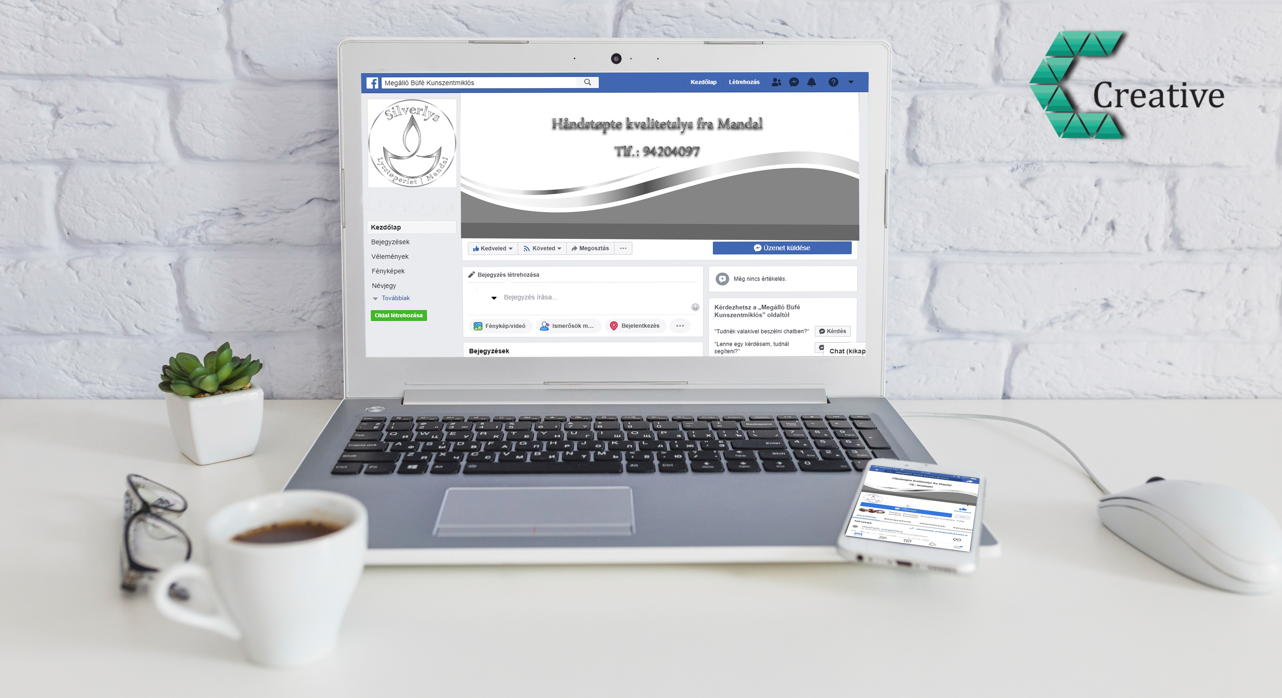 Facebook arculat tervezés