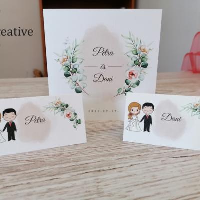 Esküvői meghívó és ültető kártya tervezés